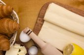 Ingredients for puff pastry — Stock Photo