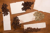 Different varieties of coffee beans — Stock Photo