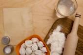 Ingredients unleavened dough — Stock Photo