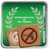 October 2 International Day of Non-Violence — Stock Vector
