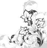 Fondo floral para el diseño — Vector de stock
