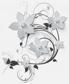 Floral background for design — Stock Vector