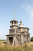 Ancient destroyed wooden church — Stock Photo