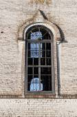Big window of old orthodox church — Foto de Stock