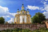 Restored Cathedral of the Ascension in northern russian town Tot — Stock Photo