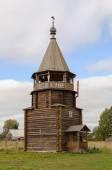 Wooden bell tower of orthodox church — Zdjęcie stockowe