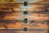 Old wooden wall with joints — Stock Photo
