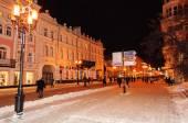 Nizhny Novgorod. Converted Bolshaya Pokrovskaya Street with even — Stock Photo