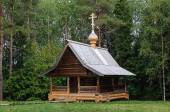 Old wooden orthodox chapel in North Russia — Stock Photo