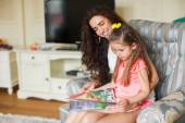 Mother And Daughter Relaxing Together — Stock Photo