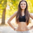 The beautiful girl after fitness classes. — Stock Photo #57381313