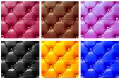 Six color leather hammering — Stock Photo