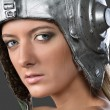 Girl aviatrix — Stock Photo #70250641