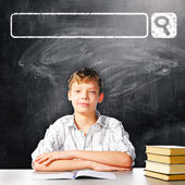 Skola pojke — Stockfoto
