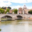 Ponte Principe Amedeo and St. Peters basilica — Stock Photo #54930117