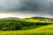 Sunset view of Pienza — Stock Photo