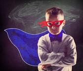 Superhero school boy — Stock Photo