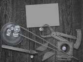 Vintage tools and diamonds — Stock Photo