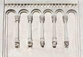 Decorations on walls of Church Intercession of Holy Virgin on Ne — Stockfoto