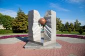 Russia. Tambov. Monument to victims of nuclear accidents — Stock Photo