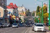 Pervomayskaya street. Lipetsk. Russia — Stok fotoğraf