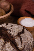 Rye bread on a wooden board — Stock Photo