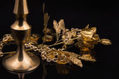 Golden metal products — Foto Stock