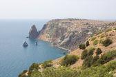 Cape (promontory) Fiolent in region Crimea on Black sea. — Stock Photo