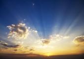 Sky background on sunrise. — Stock Photo