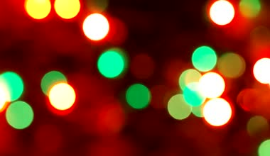 Festive Christmas background with lights. — Stock Video