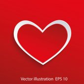Red heart — Stock Vector