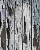 Old wooden background with peeled color — Stock Photo