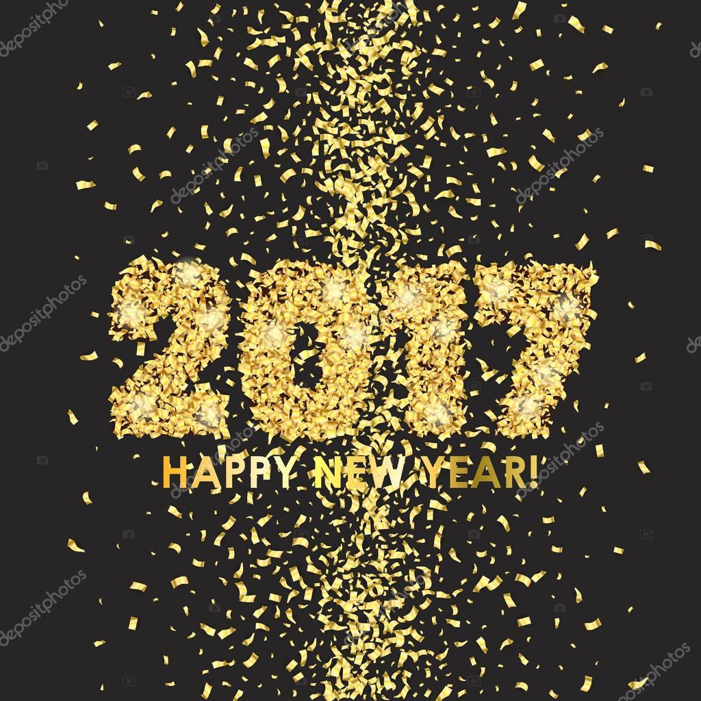 fond de c l bration du nouvel an 2017 avec des confettis image vectorielle 109925734. Black Bedroom Furniture Sets. Home Design Ideas