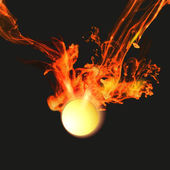 Abstract background with vector fire — Stock Vector