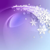 Abstract purple winter background with snowflakes — Stock Vector
