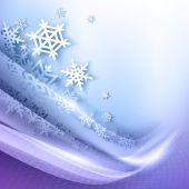 抽象的なブルーの冬の背景 — ストックベクタ