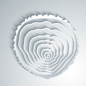 Abstract tree rings background. — Stockvector