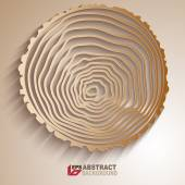 Abstract tree rings background. — Stock Vector