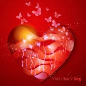 Den přání valentýnské. — Stock vektor
