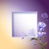 Весенние цветы шаблон пригласительный. — Cтоковый вектор