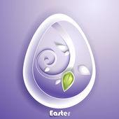 Přání s velikonoční vajíčko — Stock vektor