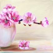 Sakura flowers in vase — Photo