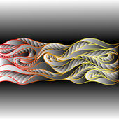 Decorative ornamental pattern background — Cтоковый вектор