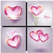 Vector illustration of shiny bubble heart — Stock Vector