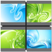 Abstract blue and green background — Stock Vector