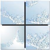 Abstraktní modré zimní pozadí — Stock vektor