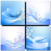 Abstract blue winter background — Stock Vector