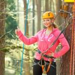 Girl having fun in adventure park — Stock Photo #55398705