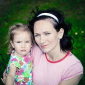 彼女の娘を持つ母 — ストック写真