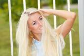 Sunny portrait of a girl — Stock Photo